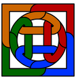 knot emblem vector image vector image