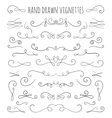 Set of hand drawn vignettes in retro style vector image