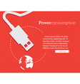 power consumption vector image