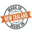 New Zealand orange grunge ribbon stamp on white vector image
