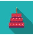 Birthday Cake Flat Icon for Your Design vector image