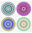 Colored mandala set vector image