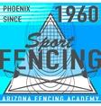 fencing sport leaflet in vector image