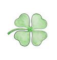four leaf clover vector image