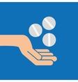 hands pill medicine care icon vector image