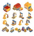Production and Delivery Isometric Set vector image
