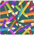 Seamless pattern with colored pencils eps10 vector image