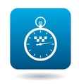 Stopwatch with taxi sign icon vector image