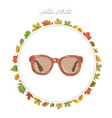 sun glasses hand draw accessories autumn vector image