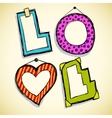 Love frames vector image vector image