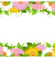 Flower And Leaves Border vector image vector image