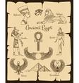 Ancient Egypt symbols vector image