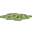 polluted pond vector image vector image