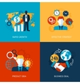 Business and management set vector image