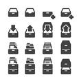 cabinet icon set vector image
