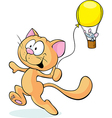 cat playing with mouse isolated on white vector image