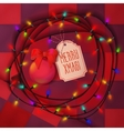 Christmas balls lamp festive garland for holiday vector image