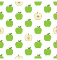 pattern with green apples vector image