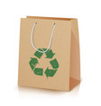recycling paper bag of recycled vector image