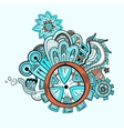 Steampunk abstract background vector image