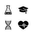 study simple related icons vector image