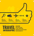 travel infographics buy air tickets vector image