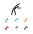 of fitness symbol on practice vector image