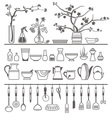 kitchen tools and utensils vector image