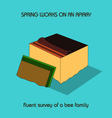 fluent survey of a bee family spring work vector image