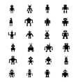 Robots Icons 2 vector image
