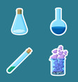 chemical equipment closed cone and open round vector image