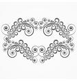 floral curls vintage frame vector image