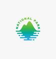 national park logo vector image
