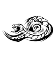 Offroad snake tattoo vector image