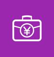 portfolio icon with yuan symbol vector image