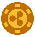ripple gold casino chip vector image