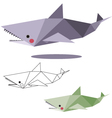 shark low polygon vector image vector image