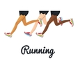 poster running legs design isolated vector image