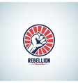 Rebellion Fist Symbol Abstract Emblem or vector image