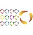 Circles logo set vector image