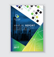 annual report brochure design vector image