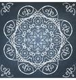 Chalkboard filigree ornament vector image