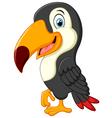 Cute toucan cartoon presenting vector image