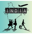 Infographic silhouette people in the airport vector image