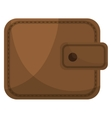 Brown leather classic wallet icon vector image