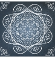 Chalkboard filigree ornament vector image