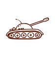 Hand Drawn Army Tank vector image