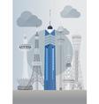 Japan Fukuoka Tower vector image