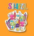 school elements clip art doodle sticker vector image