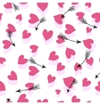 Seamless Hearts And Arrows vector image